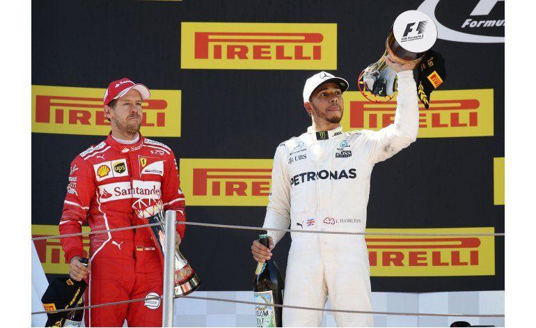 Pese a triunfo de Hamilton, Vettel conserva la confianza