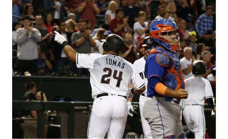 Tomás y Greinke ayudan a Arizona a vencer a renqueantes Mets