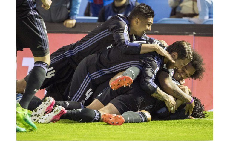 Real Madrid golea al Celta y acaricia el título