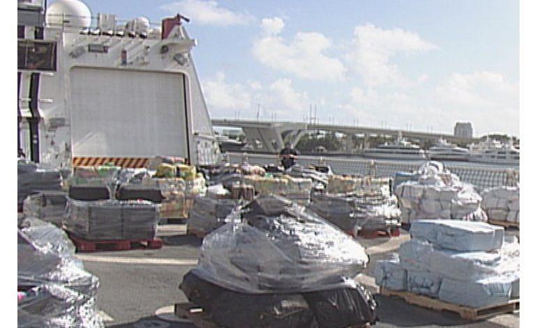 Incautan cargamento de 18 toneladas de cocaína