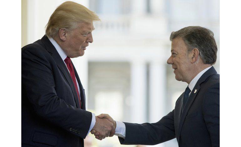 Trump pide a Santos detener producción de cocaína