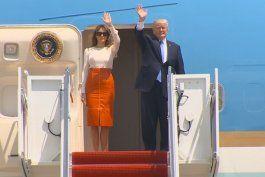 trump comienza su primera gira internacional como presidente