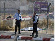 palestino abatido al tratar de matar a policias
