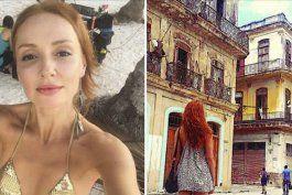 la actriz de la que se avecina cristina castano disfruta en cuba