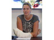 kvitova no sabe si podra jugar en el abierto de francia