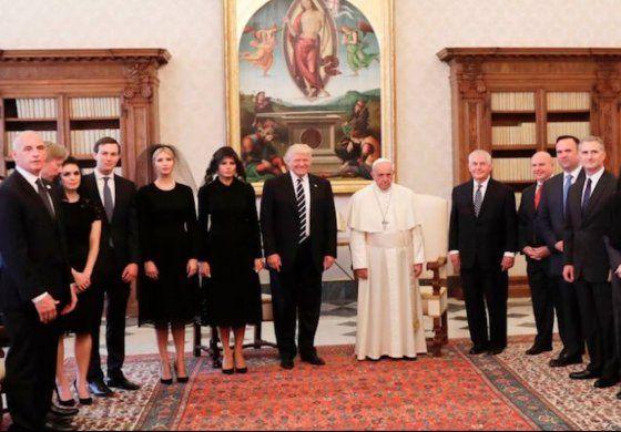 Donald Trump se reúne con el papa Francisco