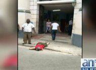 imagenes sensibles:  mujer cubana se lanza al vacio desde policlinico en la habana