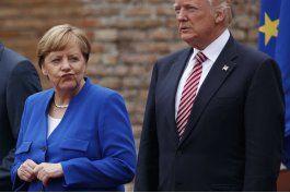 g7: trump disgusta a alemanes con criticas sobre comercio