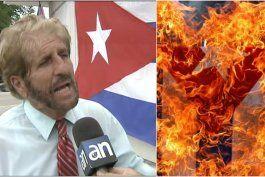 vigilia mambisa a protestantes venezolanos: la bandera cubana se respeta
