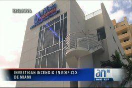 provocan incendio en un edificio de la compania de seguros univista insurance