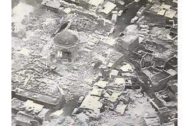 estado islamico destruye mezquita historica en mosul