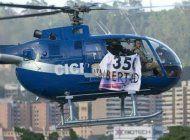 lanzan desde helicoptero dos granadas contra supremo de venezuela, llaman a desconocer el regimen
