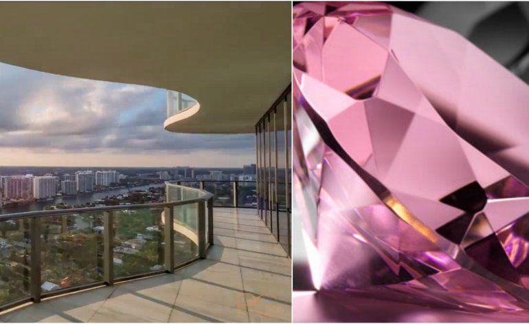 El impresionante Penthouse de Miami que vale USD 40 millones y viene con un diamante rosa de regalo