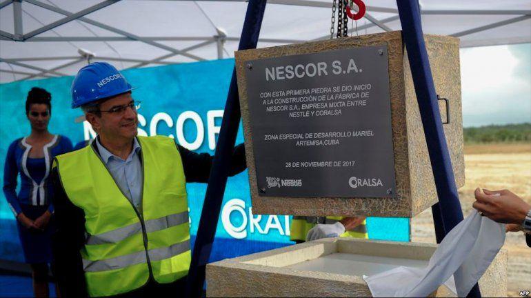 Nestlé inicia construcción de fábrica en Mariel