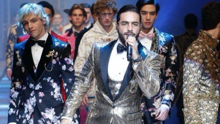Maluma hace historia al desfilar para Dolce & Gabbana... ¡CON SORPRESA INCLUIDA!