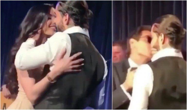 Maluma se besa en el mismo escenario con su novia  la Cubana – Croata, Natalia Barulich  y con ¡Marc Anthony!