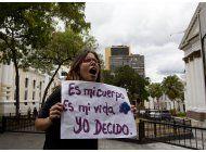 se manifiestan en favor del aborto en venezuela