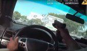 VIDEO: Un policía dispara a través del parabrisas en una persecución de sospechosos armados