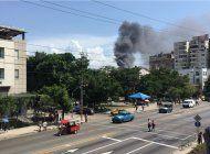 incendio en el hospital oncologico de la habana