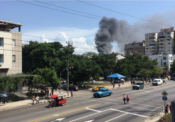 Incendio en el Hospital Oncológico de La Habana
