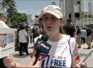 cubanos protestan en miami contra los cruceros a cuba