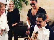 el famoso chef nusret gokce le cocina al dictador venezolano nicolas maduro y su esposa cilia flores