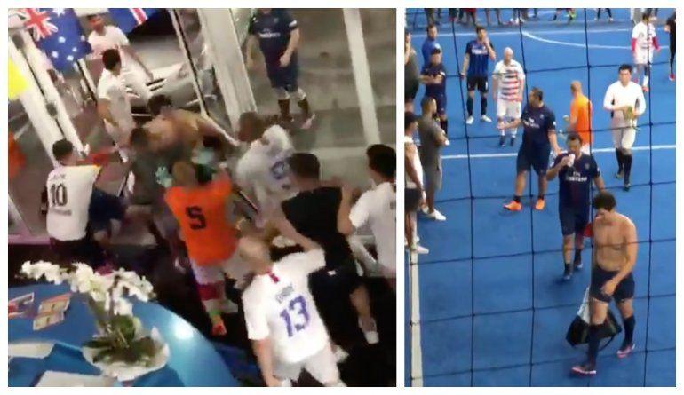 Cancha de Soccer en el  Doral se convierte en escenario de brutal pelea  protagonizada por varios cubanos