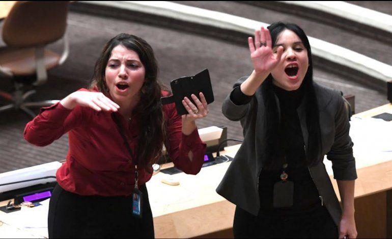 EEUU demanda investigación a diplomáticos de Cuba y Bolivia que causaron escándalo en ONU (Fotos)