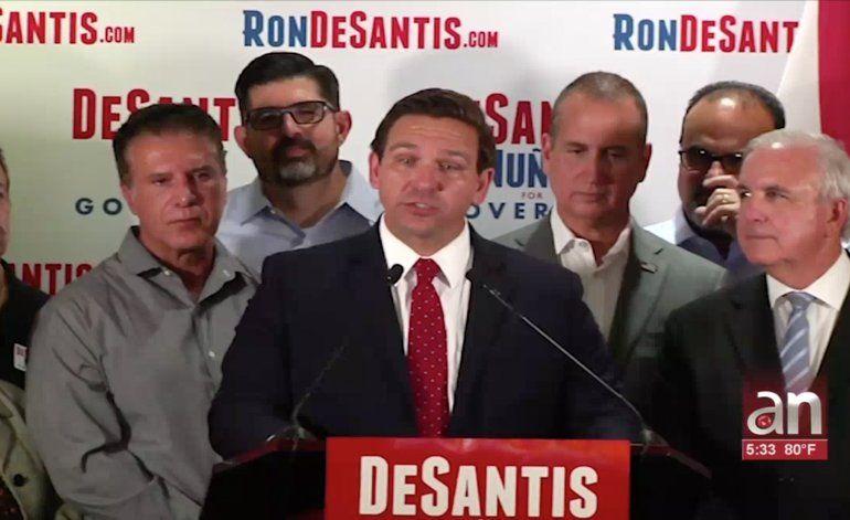 El candidato a Gobernador de la Florida Ron DeSantis visita Hialeah y es apoyado por líderes de la comunidad