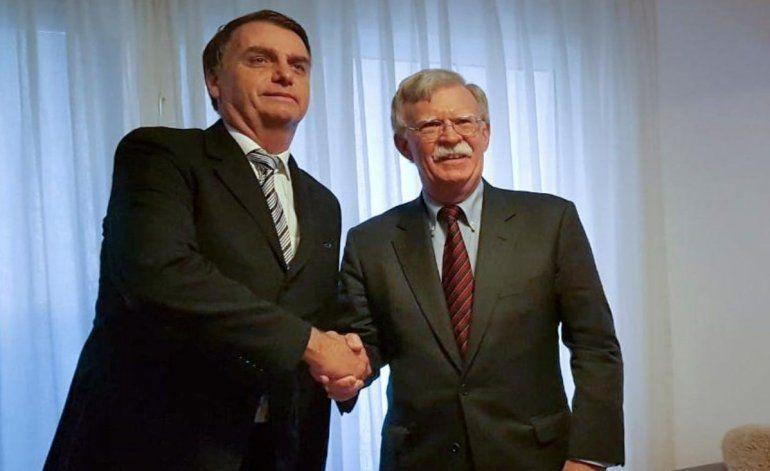 Bolton y Bolsonaro inician en Río de Janeiro alianza de EEUU y Brasil contra el régimen cubano