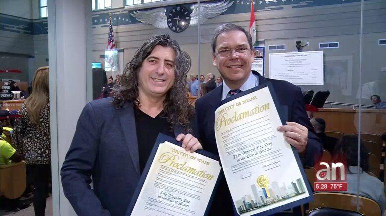 La ciudad de Miami reconoce a América TeVé y en especial a su Presidente y CEO Carlos Vasallo, al director de cine Lilo Vilaplana y al periodista Juan Manuel Cao
