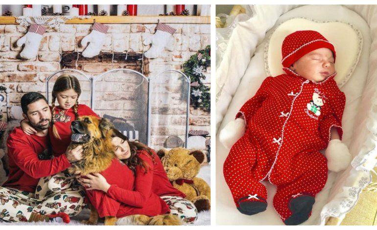 Las primeras navidades de Sarah, la bebé recién nacida de la actriz cubana Aly Sánchez