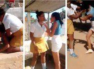 violenta pelea entre  alumna de secundaria y maestra en una escuela de camagüey