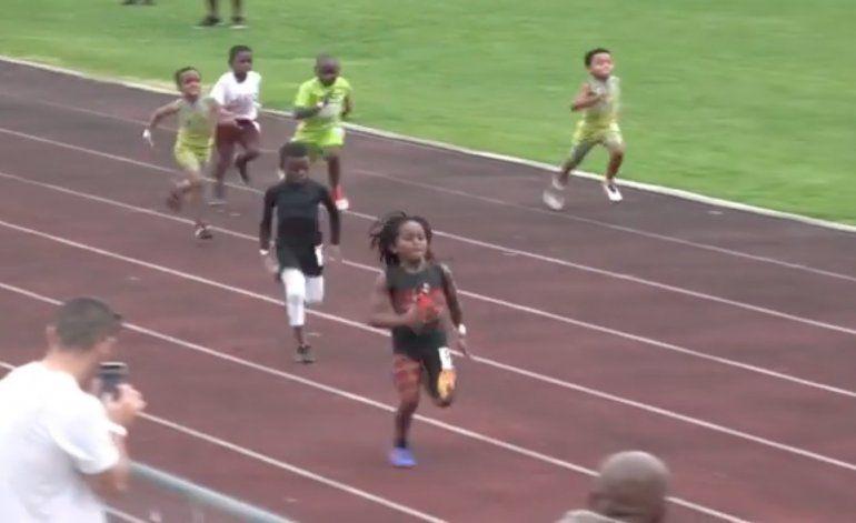 Tiene 7 años y lo comparan con Usain Bolt: quién es el niño atleta que hace furor en redes sociales