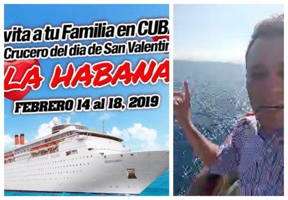 Crucero cargado de cubanos que iban a celebrar el 14 de febrero junto a sus familiares en la isla se ve obligado a regresar a Miami