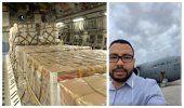 América Noticias tiene acceso a los aviones que partieron a Colombia con ayuda para Venezuela