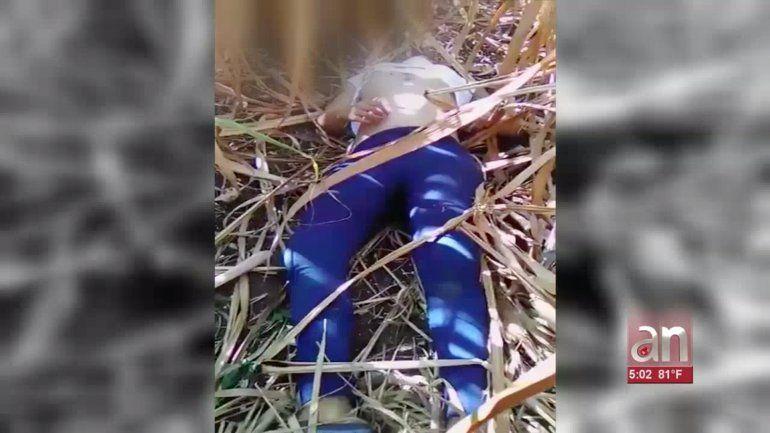 Sale a la luz el video del cadáver de quien extraoficialmente se dice sería Leidy Laura