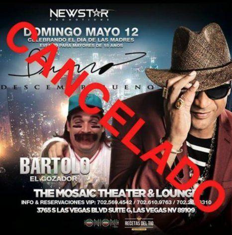 Cancelado el concierto de Descemer Bueno en Las Vegas