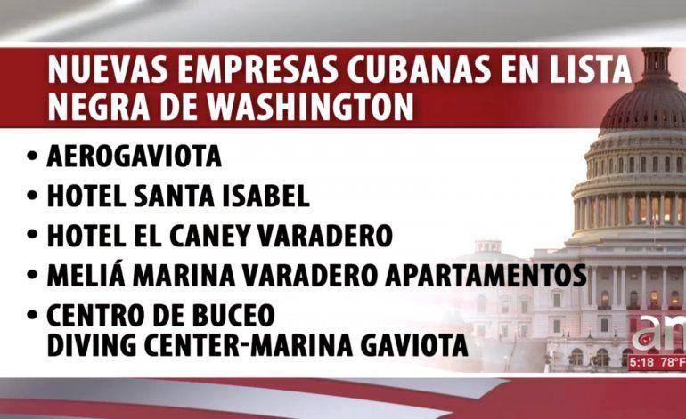 Washington agregó a otras cinco empresas operadas por la élite militar del régimen a su lista negra