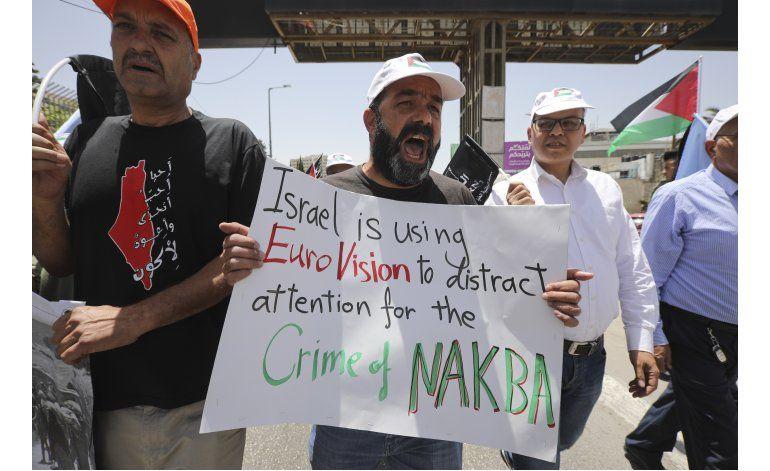 Palestinos recuerdan aniversario de su desplazamiento masivo