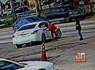camaras de vigilancia captaron cuando un hombre mato de varios disparos a otro en opa-locka