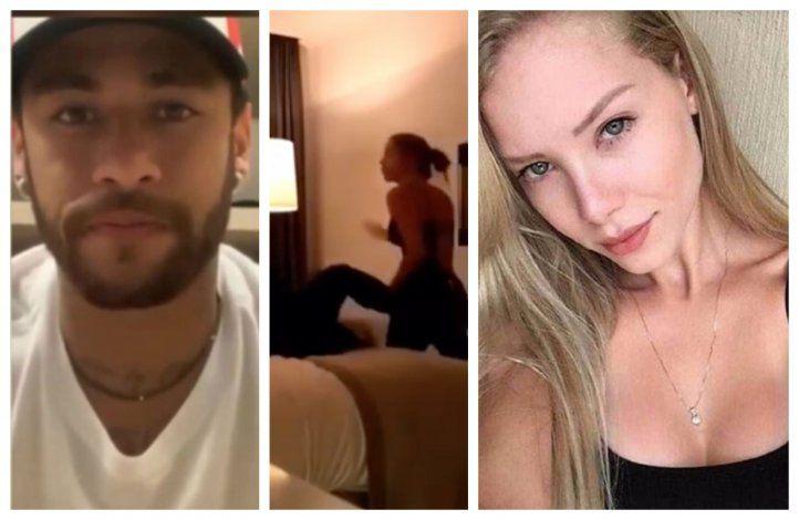 El video de la pelea de Neymar con la mujer que lo acusa de violación en un hotel de París