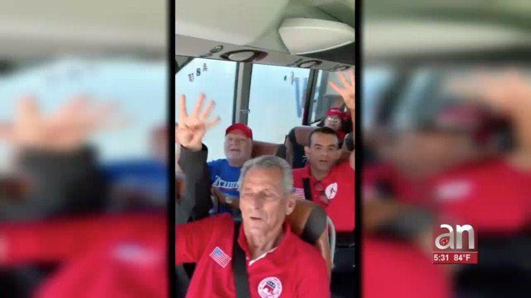 Seguidores de Trump viajaron desde Miami para acto de oficialización de candidatura para el 2020