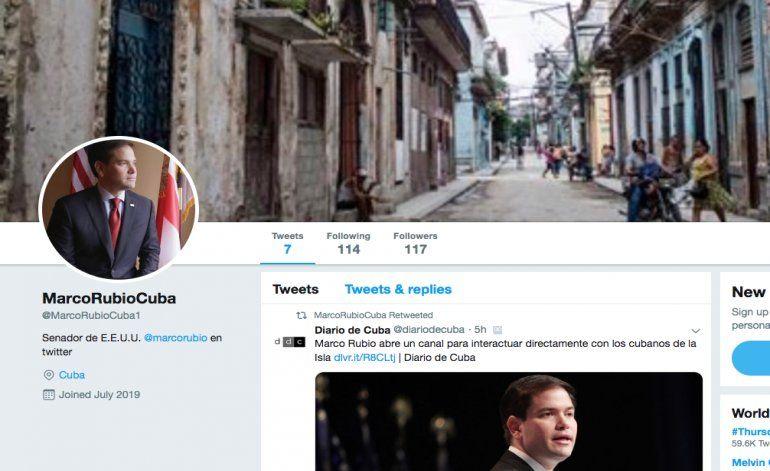 Marco Rubio abre cuenta en Twitter para interactuar con los cubanos de la Isla