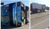 Un ómnibus Yutong volcado en la Autopista Nacional de Cuba deja 24 heridos