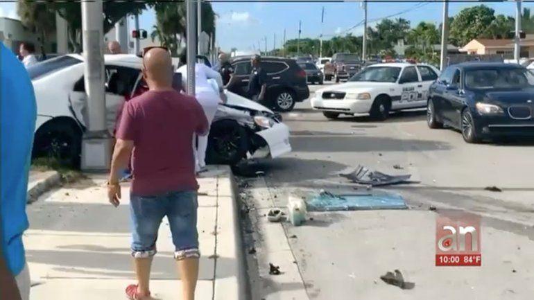 Una mujer muerta y tres personas heridas. El saldo de un accidente de tránsito en Hialeah
