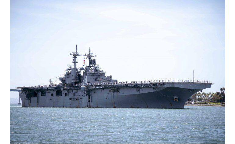 Trump dice que barco de guerra de EEUU destruyó dron iraní