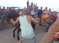¿abuso animal?:  la controversial competencia de fuerza entre dos caballos en cuba se hace viral