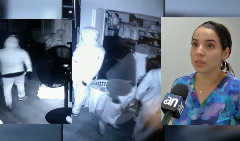 EXCLUSIVA: Captados con pistolas y cuchillos tres hombres que entraron a robar en una casa de una familia cubana de Miami