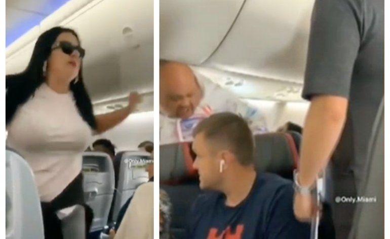 Mujer le tira una laptop por la cabeza a su novio por mirar a otra mujer en un vuelo Miami-Los Angeles